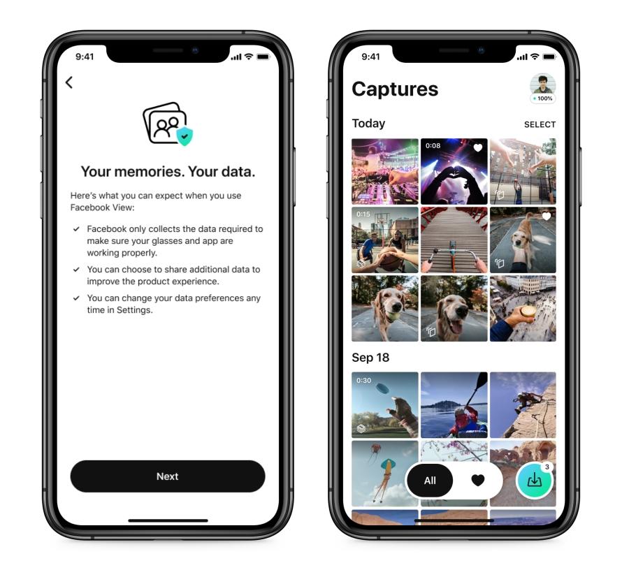 """De acordo com Mark Zuckerberg, o novo óculos será um primeiro passo em um """"futuro onde celulares são menos essenciais""""."""