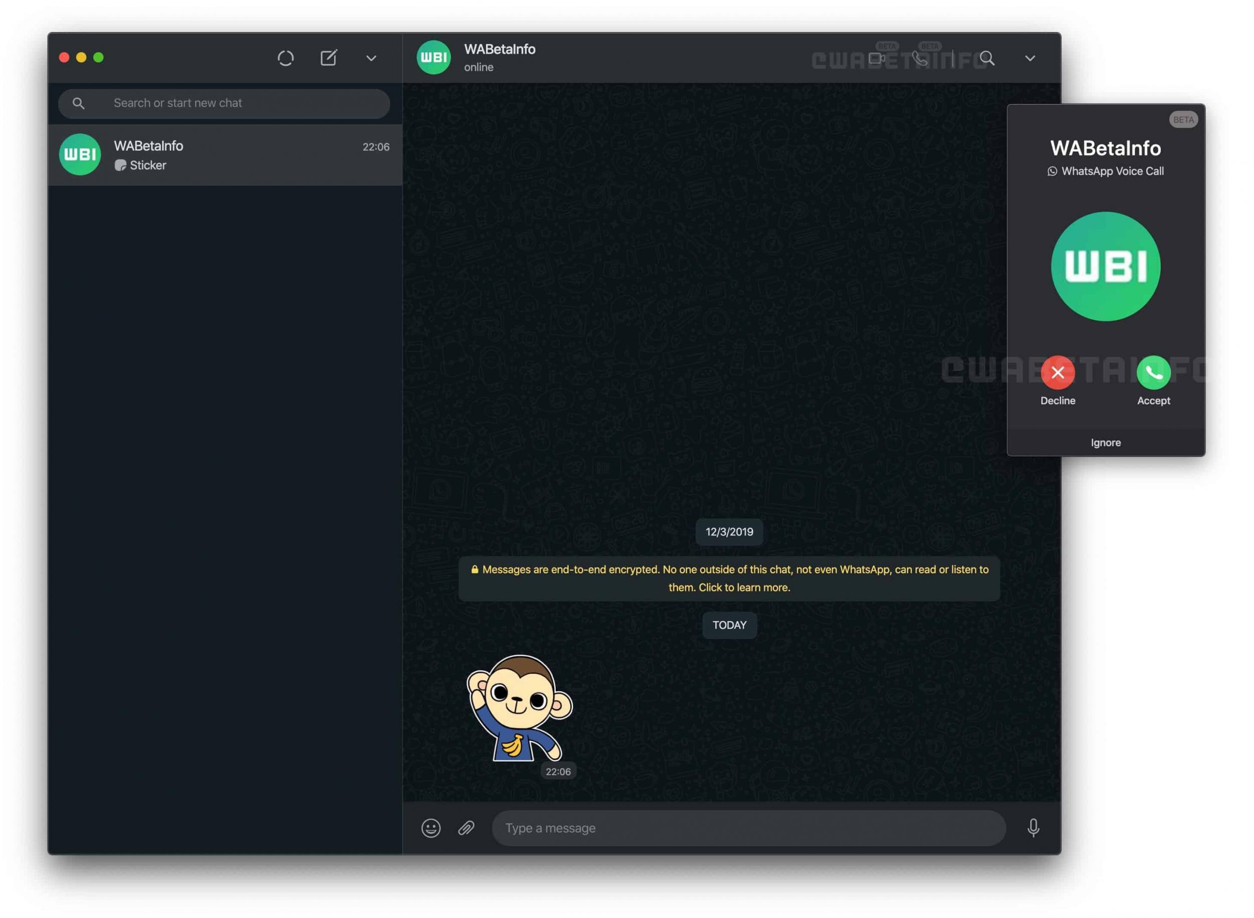 Nova atualização chega com indícios de primeiros suportes para funções de chamadas por <p><span>voz e vídeo</span></p> pelo PC.
